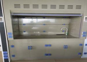 China Customized Laboratory PP Fume Hood Anti Corrosion PP Blower Grey White Appearance on sale