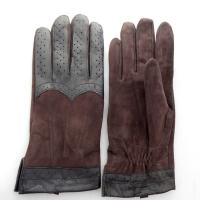 Promotion Men Plain Type Daily Life Usage Suede Machine Sewing Leather Gloves Winter