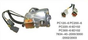 China Pc220 - 6 Pc200 - 6 Komatsu Excavator Parts Throttle Motor 7834 - 40 - 2000 7834 - 40 - 2002 on sale