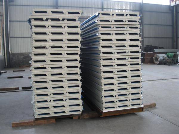Fireproof PU Sandwich Panel Insulation 50mm Thickness for