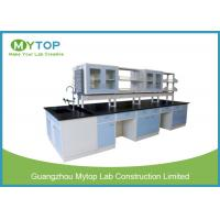 China Pharmacy Metal Laboratory Furniture With Suspended Cabinet All Steel Structure on sale