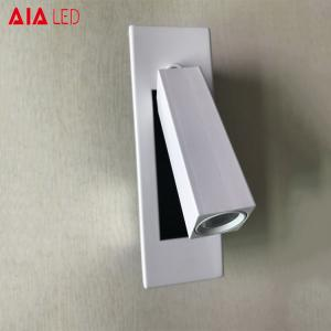 China Contemporary indoor IP20 Painting white hotel led wall lamp adjustable hotel 3W led wall lights on sale
