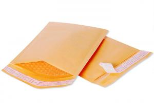 China Recyclable 6x10 Golden Kraft Bubble Mailer Self Seal Padded Envelopes Strong Hot Melt Adhesive on sale