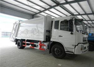 China Euro II Dongfeng Garbage Compactor Truck 6 Wheels 4cbm For Household Waste on sale