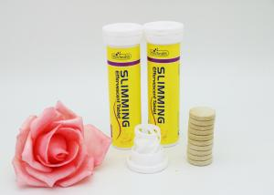 Fat Burning Slim Fizz Tablets Yellow Color Slimming Pills For Lose
