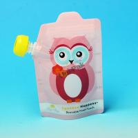 BPA Free Plastic Water Bag For Kids / Baby Food Pouch With Spout