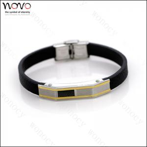 China 2016 hot Factory direct wholesale stainless steel Fashion Leather Bracelet on sale