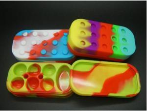 China e cig silicon contain for solid oil silicon rubber case for wax silicon box e cigarette on sale