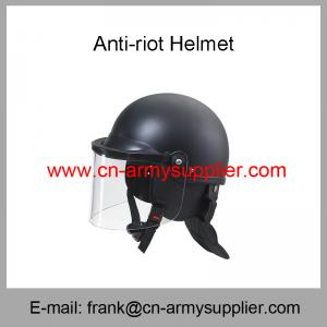 China Wholesale Cheap China Army Black Strong Anti Riot Police Helmet on sale