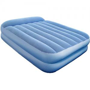 China Double size Comfortable PVC Flocked inflatable air bed / air mattress on sale