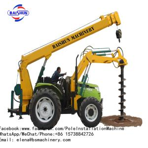 China 5-8 Ton Fence Post Digging Machine , Tractor Auger Post Hole Diggers COC Certificated on sale
