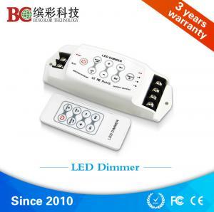 China China DC 12V 24V 3 channels led light dimmer, strobe flash RF single color led dimmer on sale