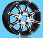 furo 13x5.5 4 rodas da liga de 13 polegadas, roda da liga do cromo polonês auto