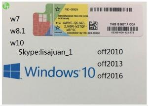 China Windows Server Software Win 8.1 Professional OEM Original Key COA Sticker on sale