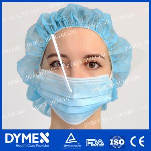 China Non woven Disposable Blue Surgical Anti-fog Face Mask with Visor on sale