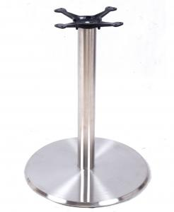 China Modern Design Stainless Steel Table Legs Metal Frame Table Base Mirror Colour on sale