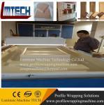Vacuum membrane press machine working
