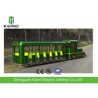 42 Seats Electric Trackless Train , Electric Tourist Train For Outside Recreation