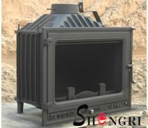 China 12kw insert wood burner cast iron fireplace on sale