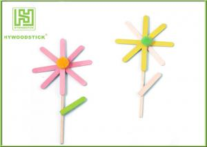 China Education DIY Lollipop Sticks , 150 / 200mm Colored Popsicle Sticks Crafts on sale