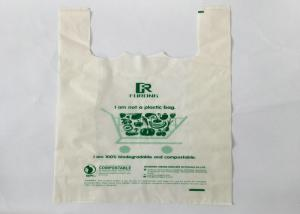 China Biodegradable Degradable Wholesale Low Price Various Sizes Heavy Duty Garbage Bag pla T-shirt shopping bags on sale