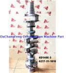 6D140 diesel crankshaft forged 6217-31-1010 6D110 6D125 6D114