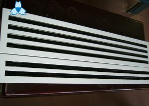 China Anodized / Powder Coated Single Deflection Grille For Airflow Distribution Uniformity on sale