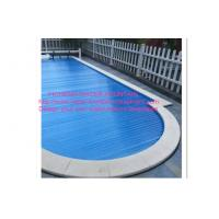 PC Pool Control System Above Ground Automatic Pool Cover Transparent Blue