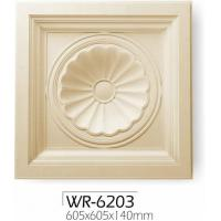 White PU Decorative Ceiling Medallions Painted Board For Wall