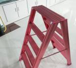 Aluminum ladder style clothes drying rack