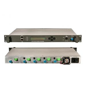 China Satellite TV DVB-S SAT-IF Optical Transmitter And Receiver Video Audio , SC / APC on sale