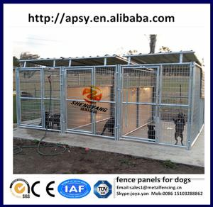 Steel wire round tube welded dog pens modular fence panels for small ...