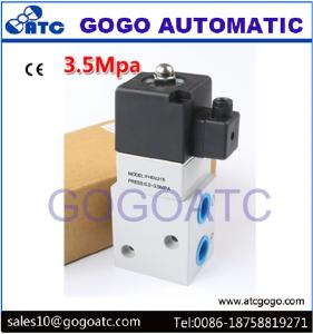 China Industrial 3 Way Air Compressor High Pressure Solenoid Air Valve 1/4 1/2 Pipe Size on sale