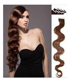 China 2014 New Body Wavy Skin Weft Tape Hair Extensions on sale