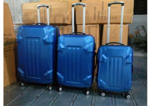 China Aluminum Silver 3 Pcs ABS Trolley Luggage Colorful With Silver Iron Trolley on sale