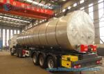 50000L 3 Axle Stainless Steel Asphalt Tanker Trailer Flatbed Semi Trailer