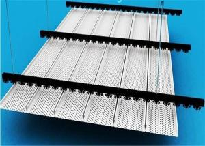 China Interior / Exterior Metal Strip Ceiling Non Flammable For Subway on sale