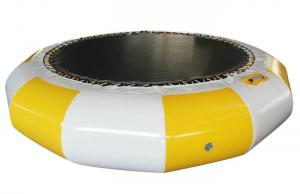 China Yellow Inflatable Water Park Toys / Outdoor Inflatable Water Trampoline 5.2*5.2*0.9M on sale