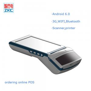 China Full touch screen 5.5 inch android 6.0 billing pirnter pos with 3g wifi bluetooth camera on sale