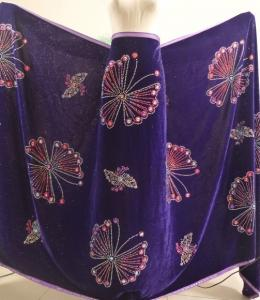 China Customized Arican lace fabrics velvet Embroidered Tunji and net OEM on sale