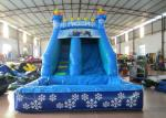 Small inflatable mini castle water slide The frozen castle inflatable tiny water slide for children under 8 years
