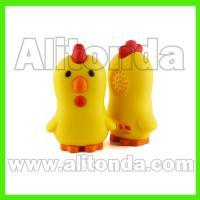 Custom pvc silicone decoration soft cute cartoon animal fruit speakers