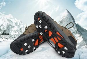 China Outdoor Shoes Chain Ice Cleats 8 Spikes Snow Traction Cleats For Safety Walking on sale