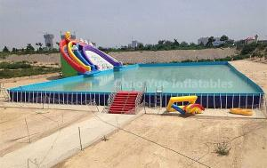 China Outdoor Above Ground Pool Metal Frame Swimming Pool for water park on sale