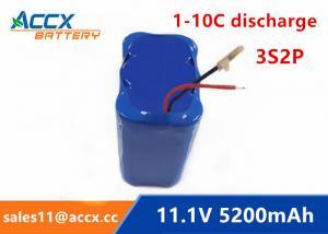 China 11.1V 12V 5200mAh li-ion battery 4400mAh 5000mAh 3S2P 18650 rechargeable battery for led light on sale