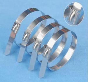 China Bridas de plástico de autoretención del acero inoxidable on sale