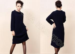 China Chunky Elegant Womens Wool Skirts , Crew Neck Sweaters For Women on sale