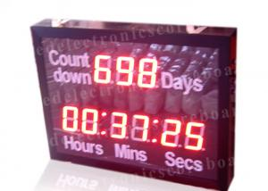 China Outdoor Led Digital Clock Large Display With Wireless Remote Controller on sale