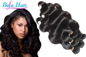China 24 Inch Remy Virgin Peruvian Human Hair Extensions Weave 3.3oz - 3.5oz/pcs on sale