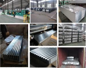 China Galvanized steel roofing sheets with 0.15mm thickness 665mm width 2440mm length on sale